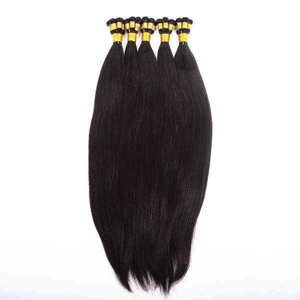 Russian hair double drawn hand tied hair weft  zj0031